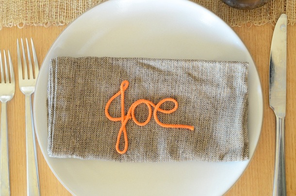 Monogram Place Cards out of Craft Cord | Camille Styles