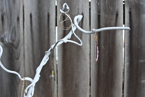 DIY Jewelry Tree | Claire Zinnecker for Camille Styles