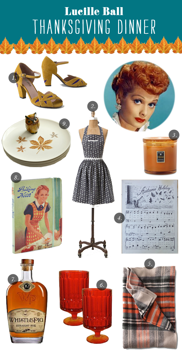 Thanksgiving Dinner Inspiration from Lucille Ball | Grown Up Shoes for Camille Styles
