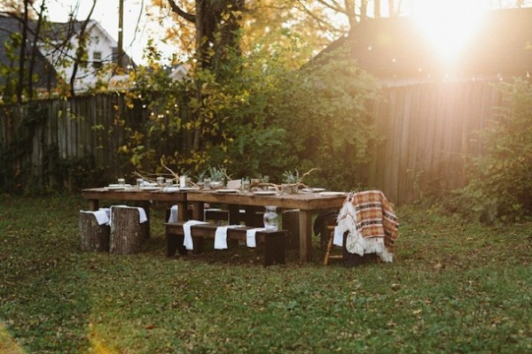 Rustic Thanksgiving Dinner | Camille Styles
