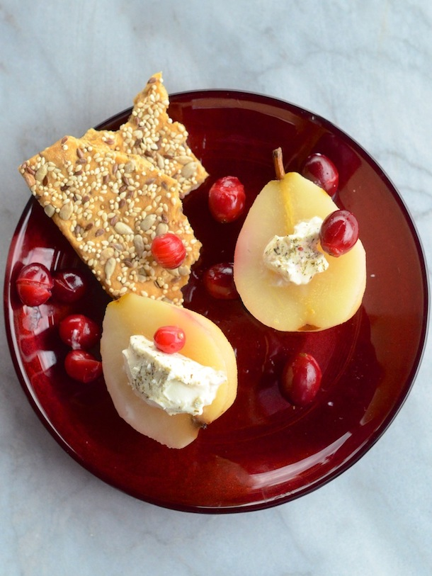 Cranberry Poached Pears | Camille Styles