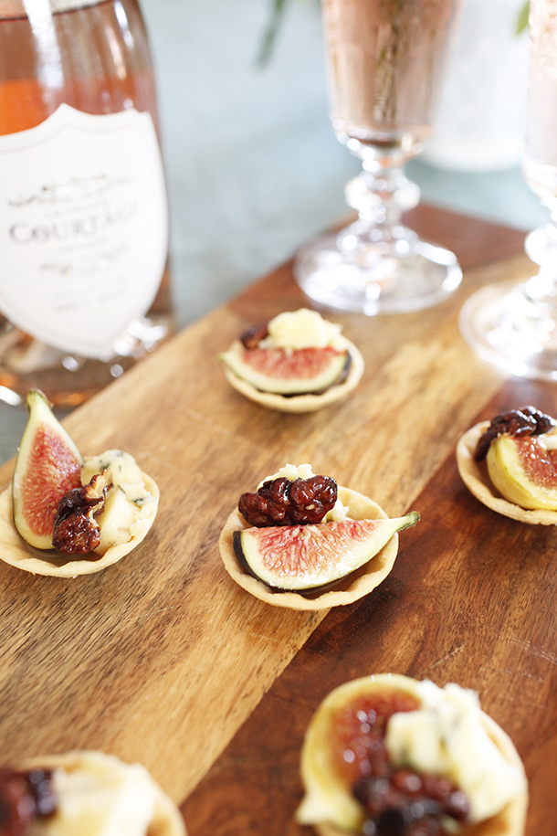 Fig & Stilton Tarts Holiday Appetizer | Camille Styles