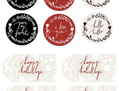 printable holiday gift tags and stickers | avalon mckenzie for camille styles