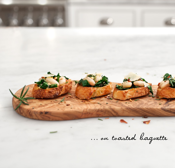 Kale & White Bean Crostini | Love and Lemons for Camille Styles
