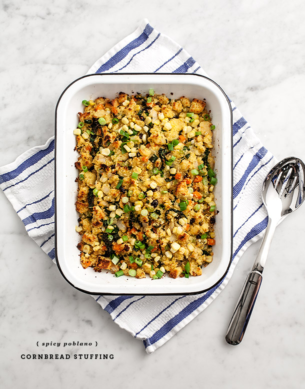Poblano Cornbread Stuffing | Love and Lemons for Camille Styles