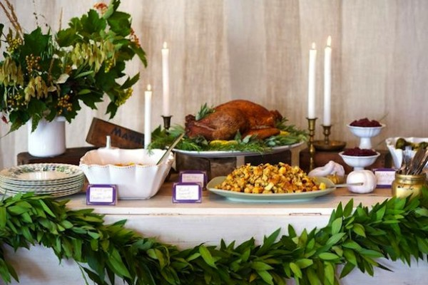 Rustic & Rich Thanksgiving Buffet | Camille Styles