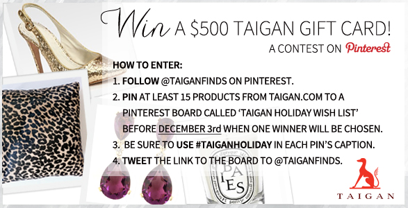 Taigan Pinterest Contest