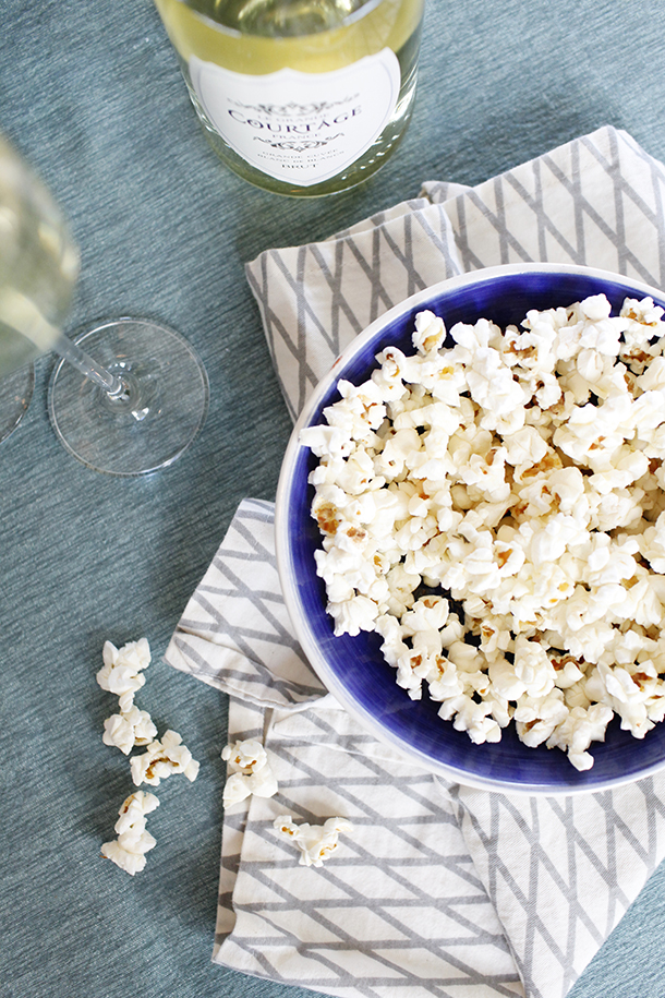 Truffled Popcorn Holiday Appetizer | Camille Styles
