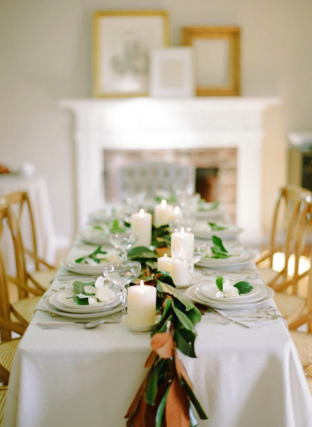 Serene Thanksgiving Table