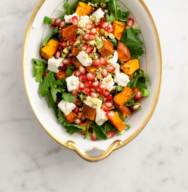 Sweet Potato & Pomegranate Salad / Love & Lemons for Camille Styles