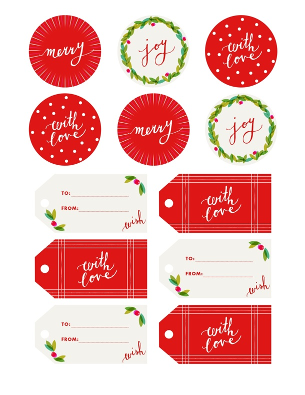 printable holiday gift tags | avalon mckenzie for camille styles