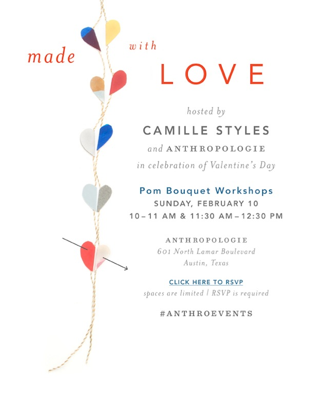 Anthropologie Valentine's Craft Party | Camille Styles