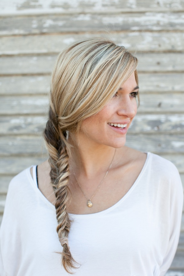 Pretty Simple Fishtail Braid Camille Styles