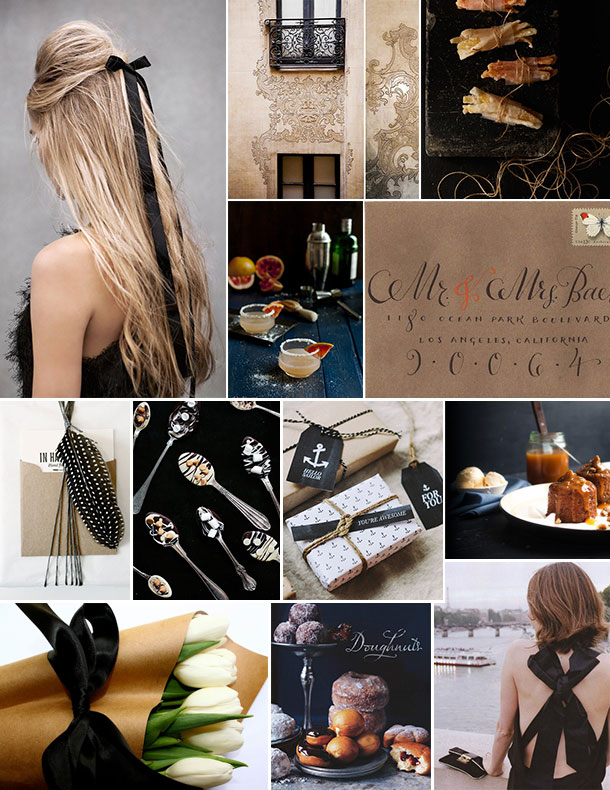 Kraft Paper & Black Bow Inspiration | Camille Styles