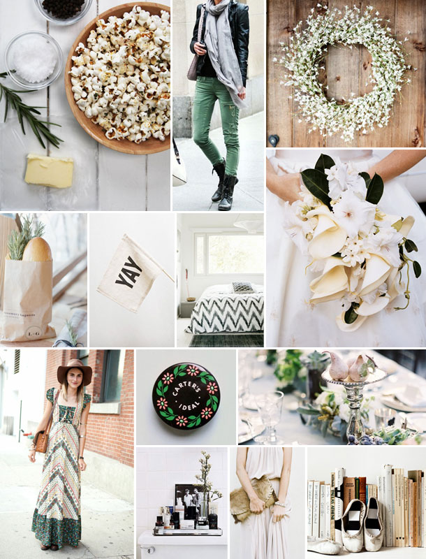 Sage and Cream Inspiration Board | Camille Styles