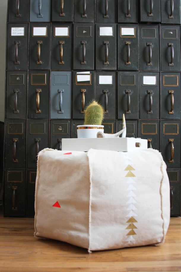 DIY Pouf   Claire Zinnecker for Camille Styles