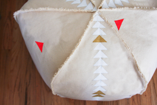 DIY Pouf | Claire Zinnecker for Camille Styles