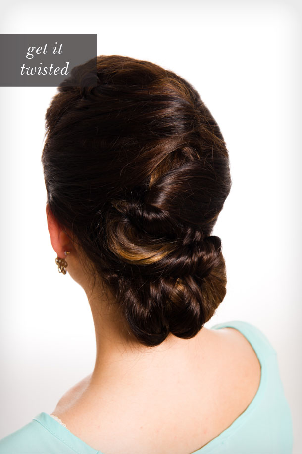 Romantic Twisted Updo by Martha Lynn Kale | Photos by Cory Ryan for Camille Styles