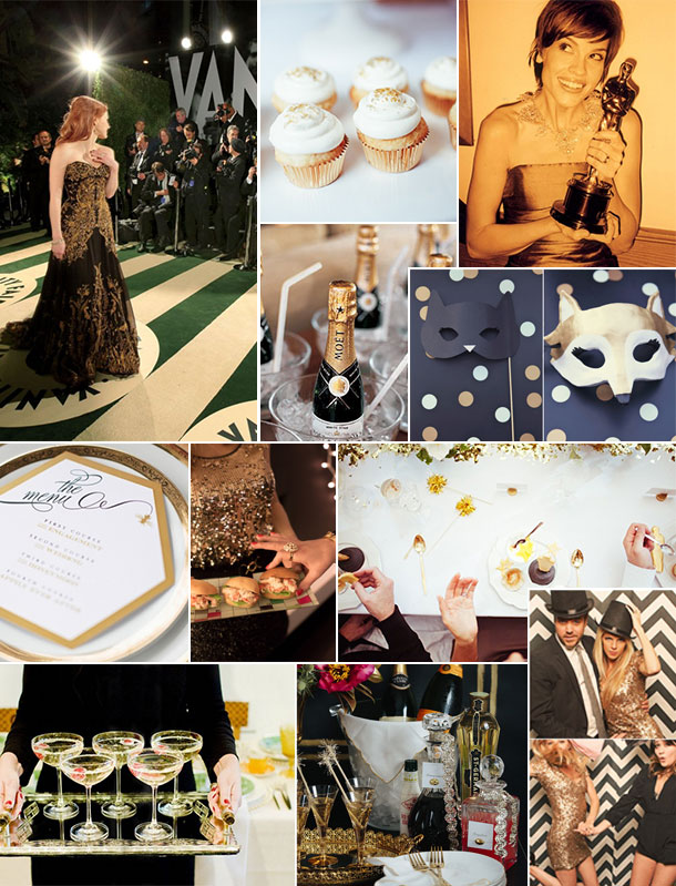 Oscar Party Inspiration Board | Camille Styles