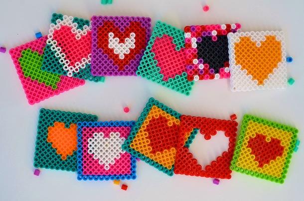 Perler Bead Valentines DIY | Estilos Camille
