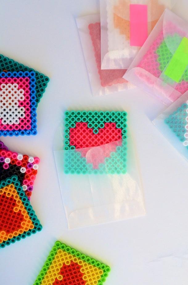 Perler Bead Valentines DIY | Camille Styles