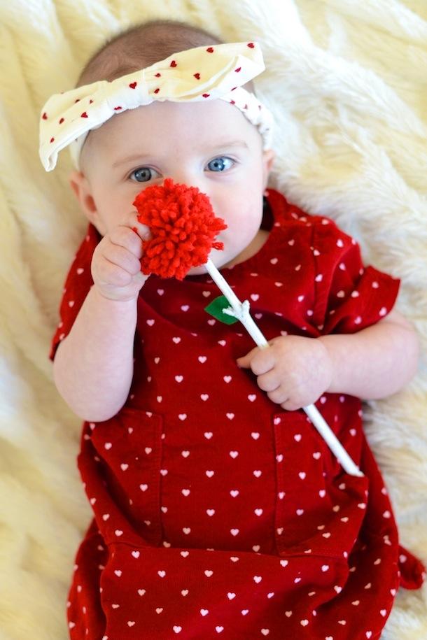 How to Make a Yarn Pom Pom Flower Bouquet   Camille Styles