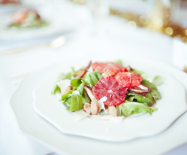 Arugula, Blood Orange, Marcona Almond Salad | Camille Styles