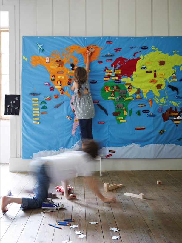 giant wall map, cox & cox | Camille Styles