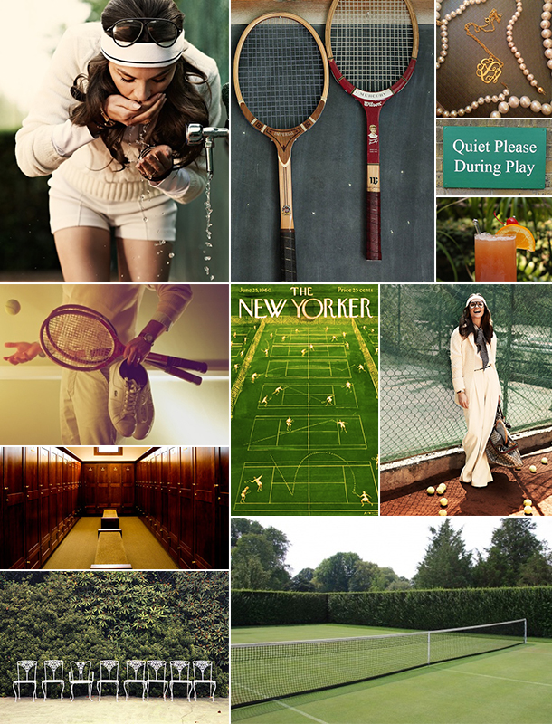 Tennis Inspiration Board | Camille Styles