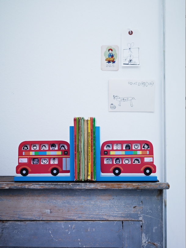 picture frame bright bus bookends, cox & cox | Camille Styles