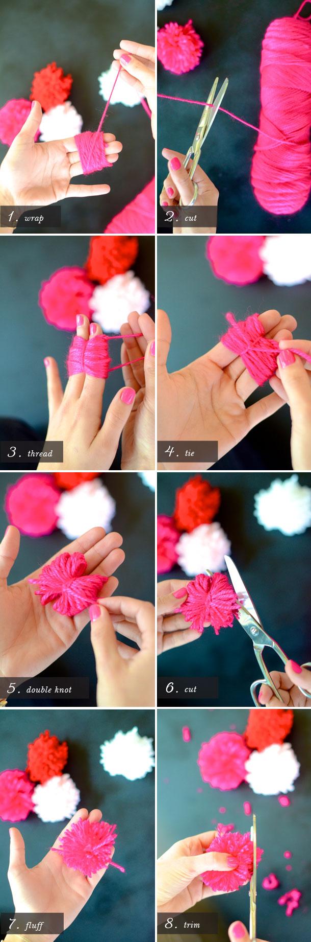 Diy Valentines Pom Pom Bouquet Camille Styles