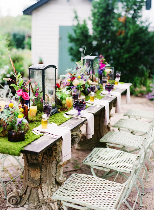 Outdoor decor for spring interior decorating for Outdoor table decor ideas