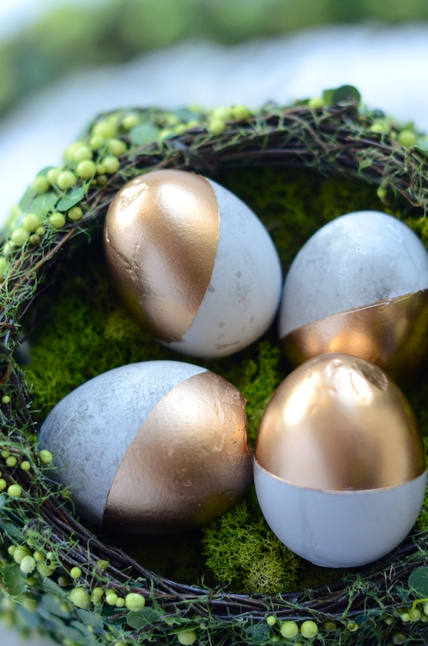 DIY Cement Easter Eggs | Camille Styles