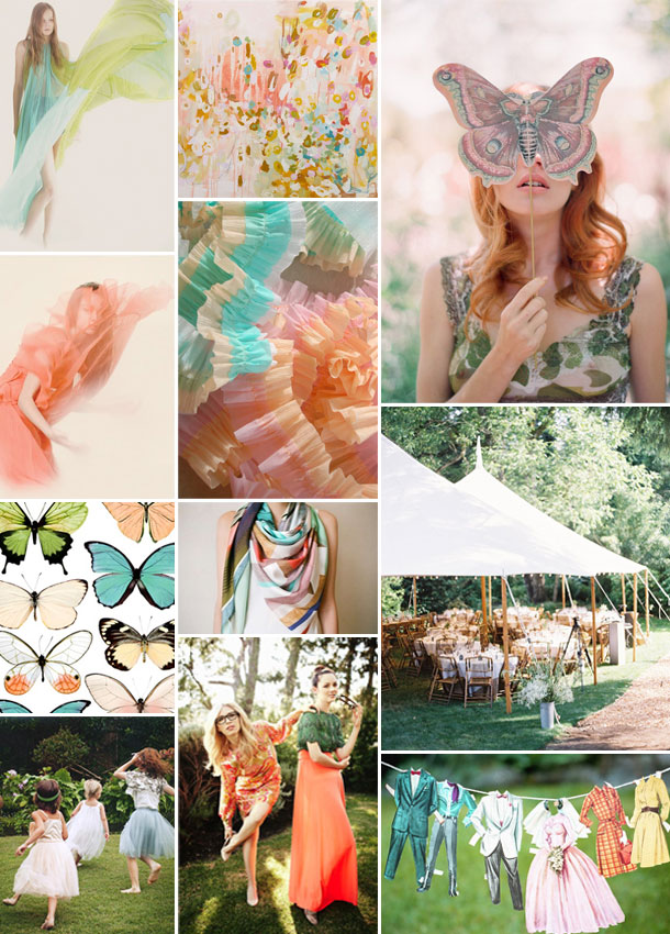 pastel colored spring inspiration board | camille styles
