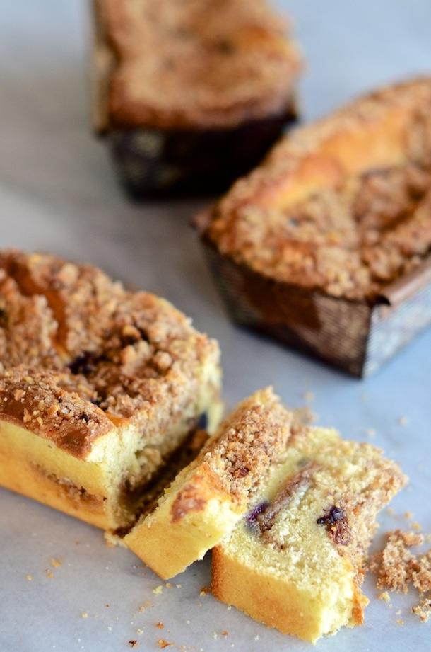Tuesday Tastings :: Blueberry-Lemon Coffee Cake - Camille Styles