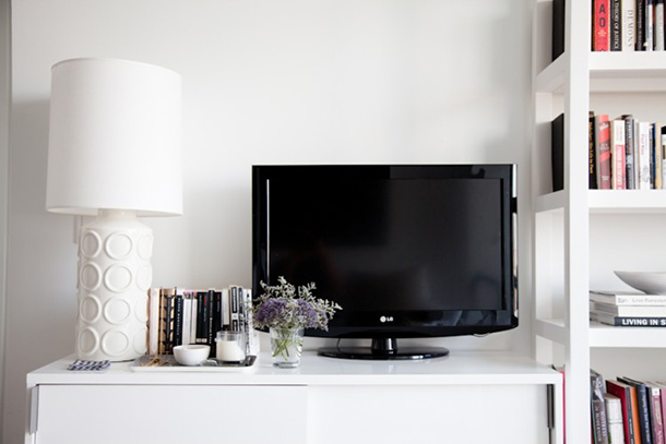 Tips for designing around a TV | Fuji Files for Camille Styles
