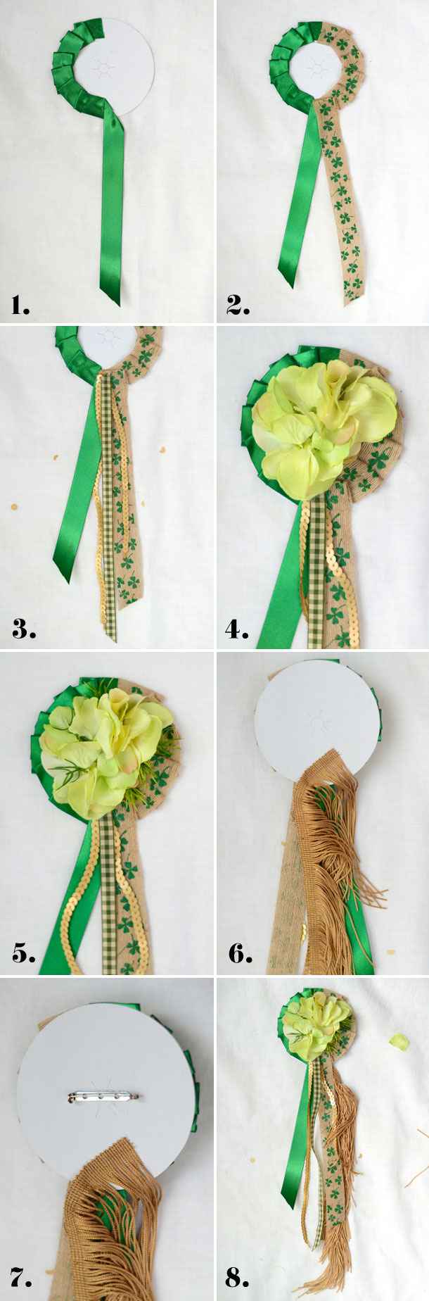 Lucky Charm Corsage for St. Patricks Day | Camille Styles