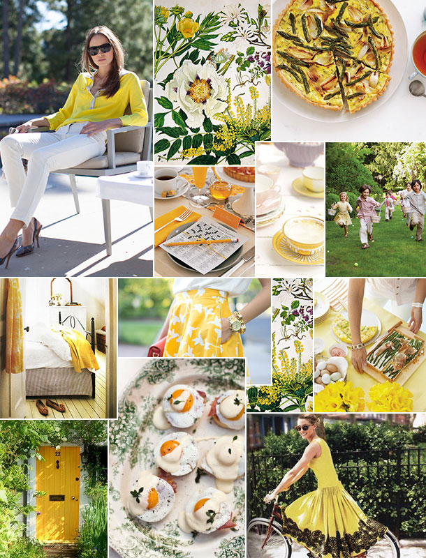 sunny side up yellow inspiration board | Camille Styles