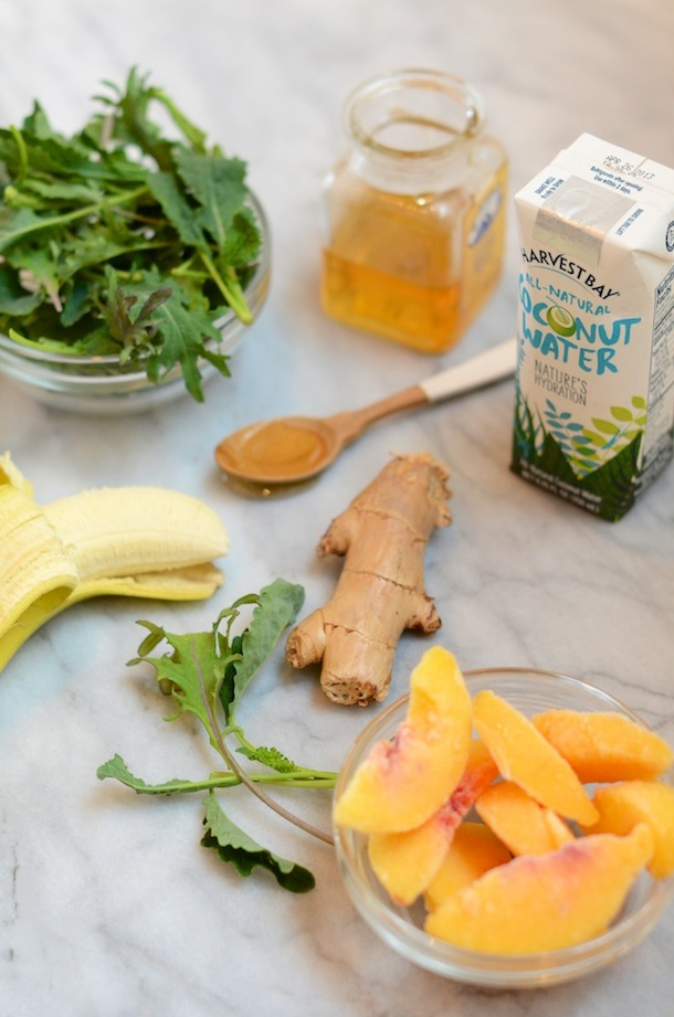 Bottoms Up :: Peach, Kale & Coconut Smoothie