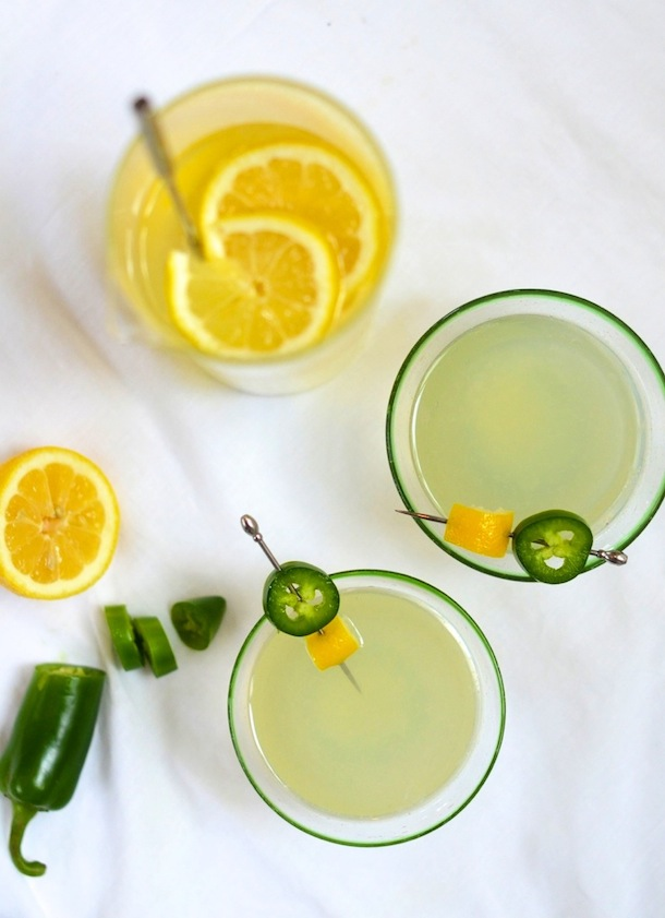 Jalapeño Lemonade Cocktail | Camille Styles