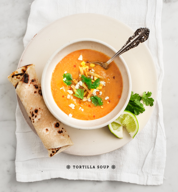 Creamy Tortilla Soup // Love & Lemons for Camille Styles