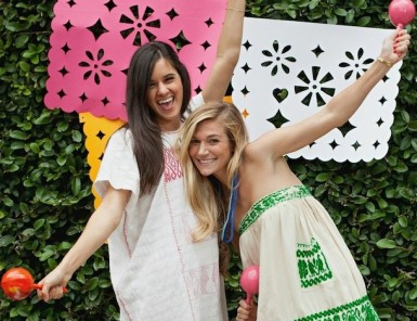 DIY Jumbo Papel Picado for a Cinco de Mayo fiesta | photo by Melanie Grizzel for Camille Styles