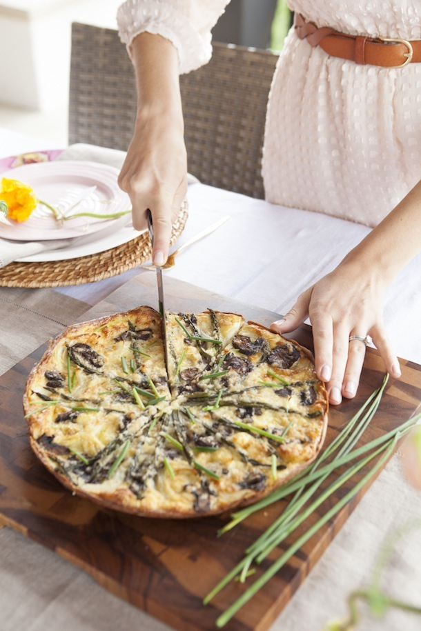 Spring Vegetable Frittata, photo by Buff Strickland | Camille Styles
