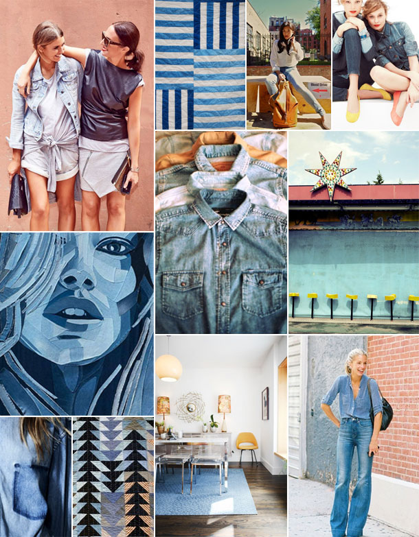 denim inspiration board | camille styles