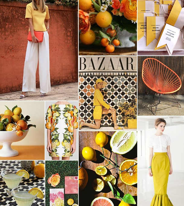 Citrus Inspiration Board | Camille Styles