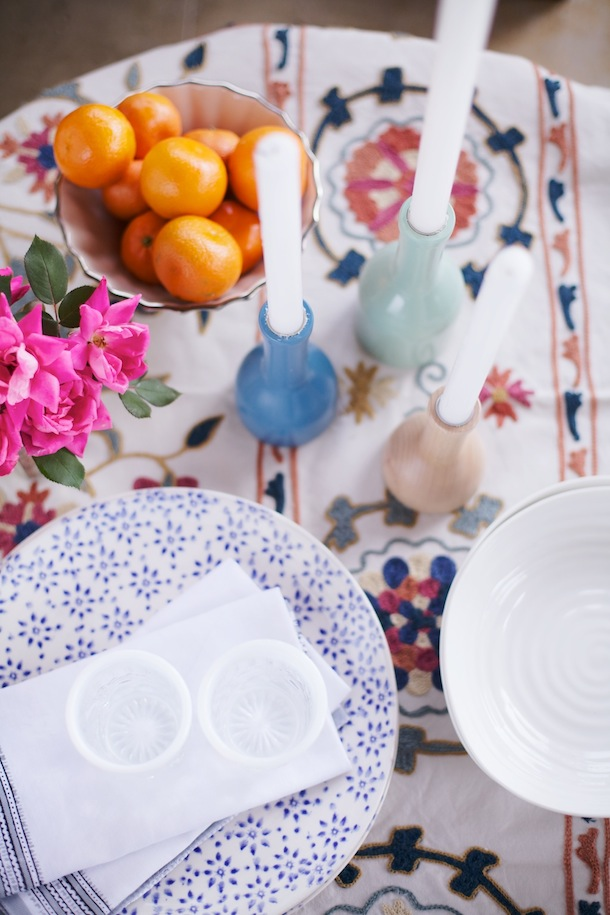 Moroccan date night with hayneedle camille styles - Table setting for dinner date ...
