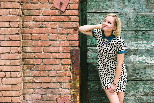 Polka Dot Sixties-Inspired Outfit styling by Jen Pinkston | Photo by Mary Costa for Camille Styles