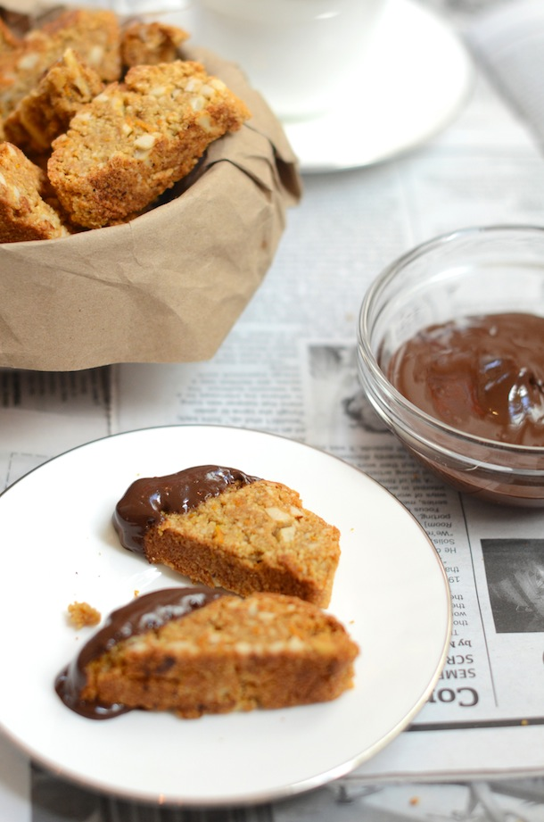 Gluten-free Almond Orange Chocolate Biscotti | Forgiving Martha for Camille Styles