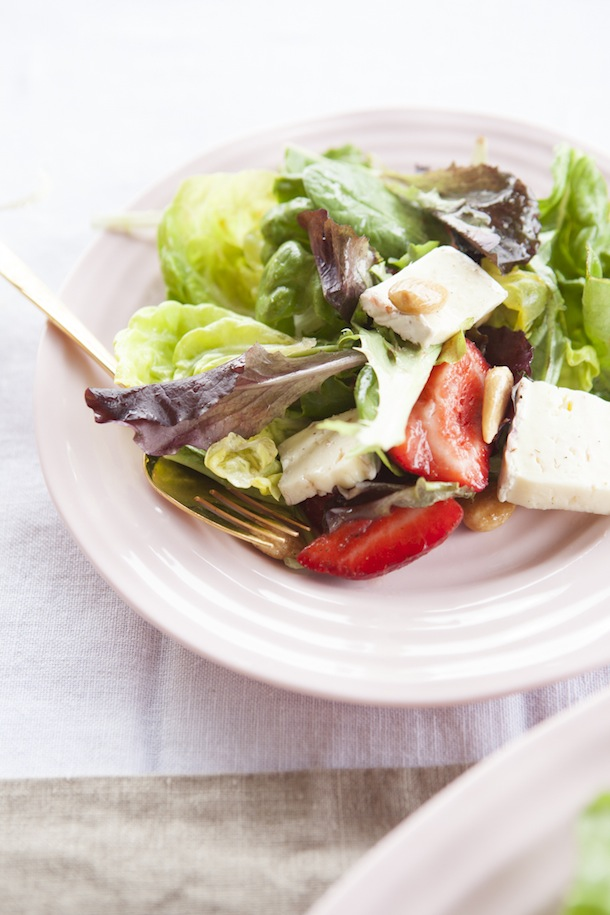 Strawberry & Brie Salad shot by Buff Strickland | Camille Styles