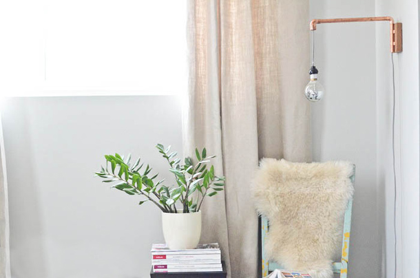 DIY Copper Pipe Wall Sconce   Claire Zinnecker for Camille Styles